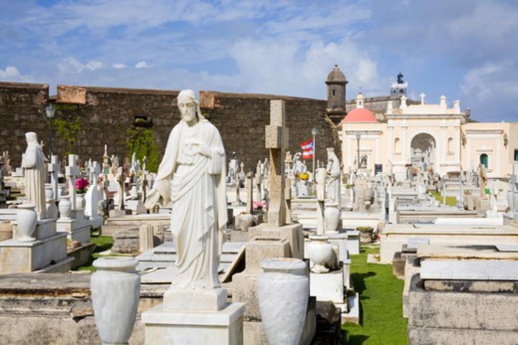 Stock Photo: 1486-15863 Santa Maria Magdalena Cemetery, Old San Juan, San Juan, Puerto Rico