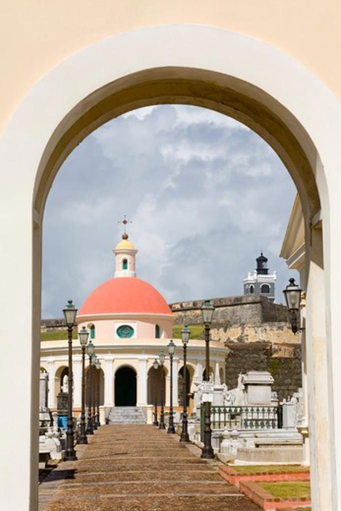 Stock Photo: 1486-15868 Santa Maria Magdalena Cemetery, Old San Juan, San Juan, Puerto Rico