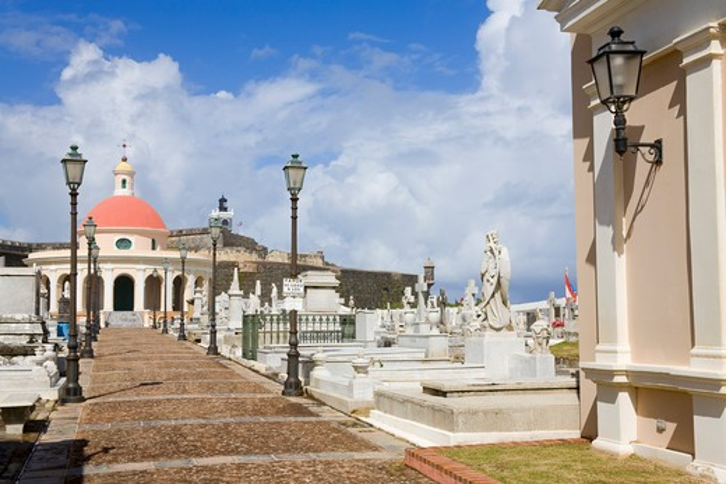 Mausoleum in Santa Maria Magdalena Cemetery, Old San Juan, San Juan, Puerto Rico : Stock Photo