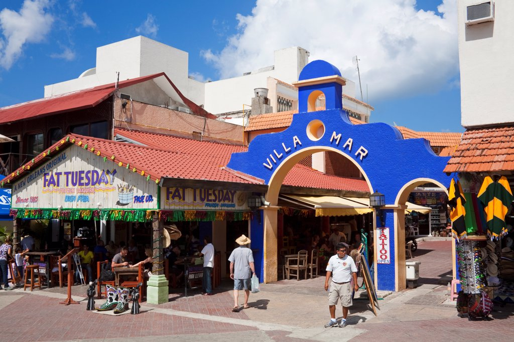 Stock Photo: 1486-16093 Villa Mar arch in San Miguel, Cozumel, Quintana Roo, Yucatan Peninsula, Mexico