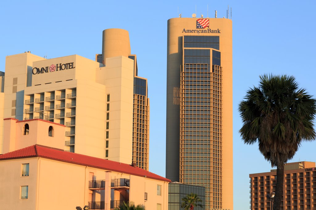 Skyscrapers in a city, Corpus Christi, Texas, USA : Stock Photo