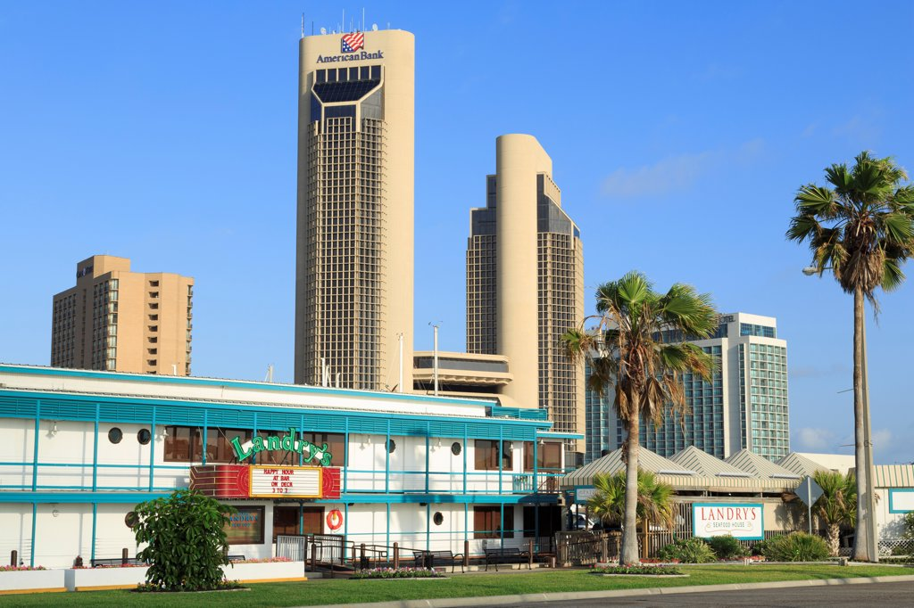 Stock Photo: 1486-16171 Buildings in a city, Corpus Christi, Texas, USA