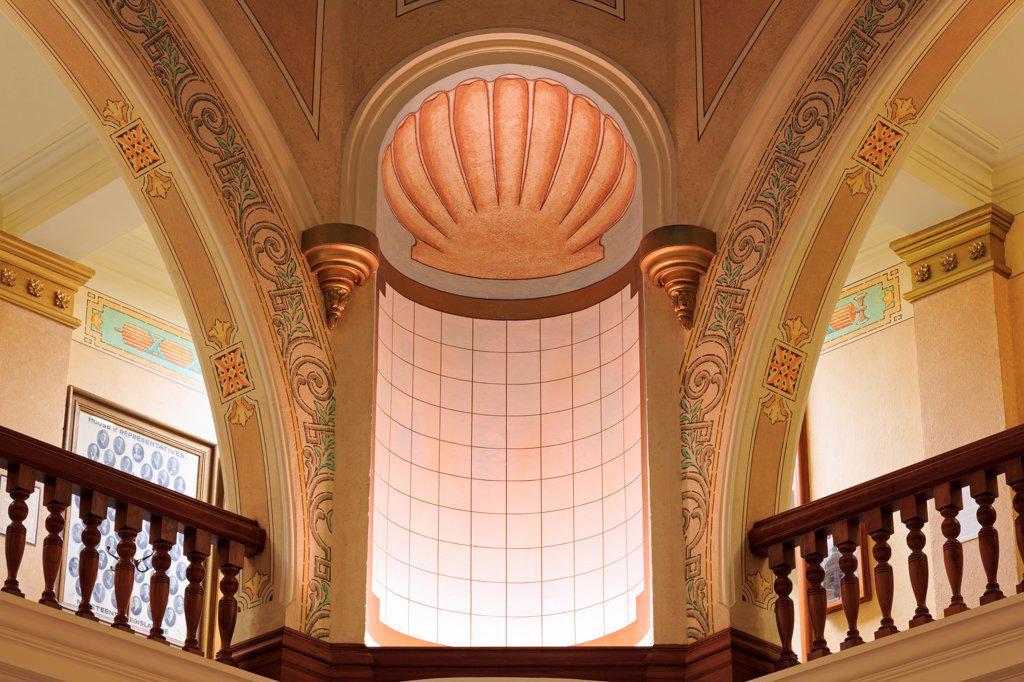 USA, Wyoming, Cheyenne, Rotunda in State Capitol : Stock Photo