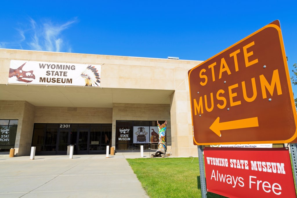 Stock Photo: 1486-16241 USA, Wyoming, Cheyenne, State Museum