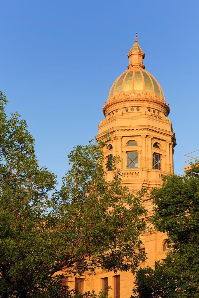 USA, Wyoming, Cheyenne, State Capitol : Stock Photo