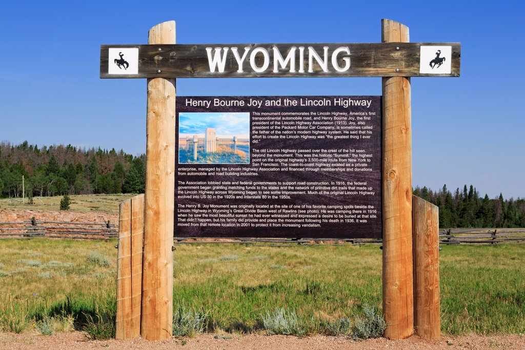 USA, Wyoming, Laramie, Lincoln Monument : Stock Photo