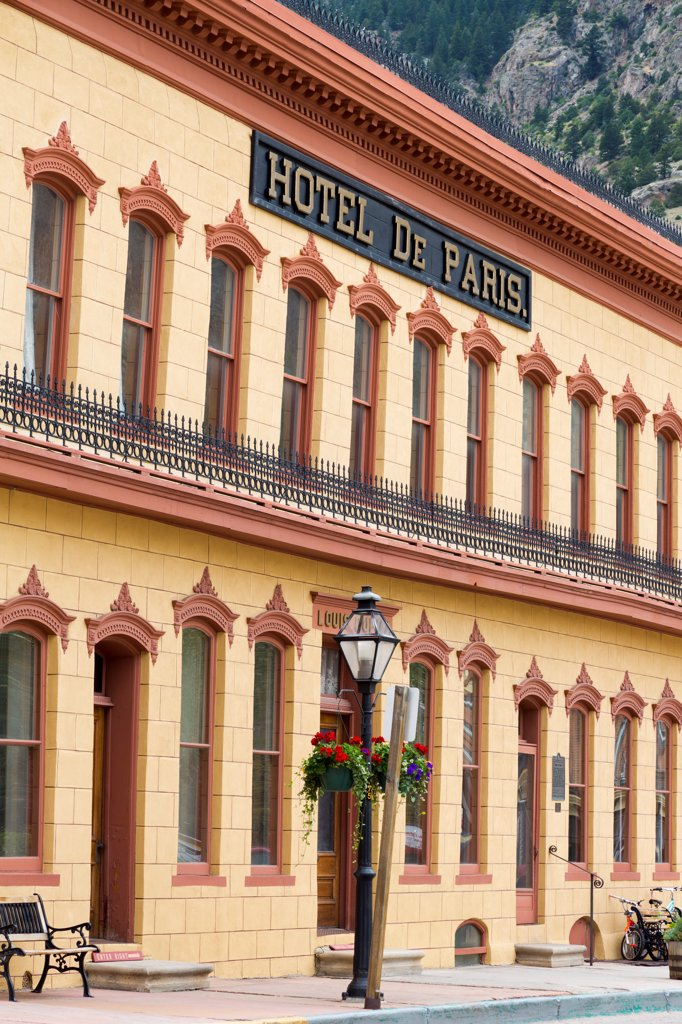 Stock Photo: 1486-16343 USA, Colorado, Georgetown, Hotel De Paris