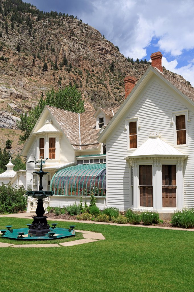 Stock Photo: 1486-16357 USA, Colorado, Georgetown, Hamil house Museum