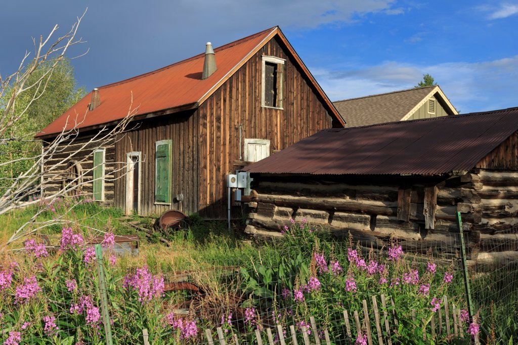 Stock Photo: 1486-16369 USA, Colorado, Breckenridge, Historic building