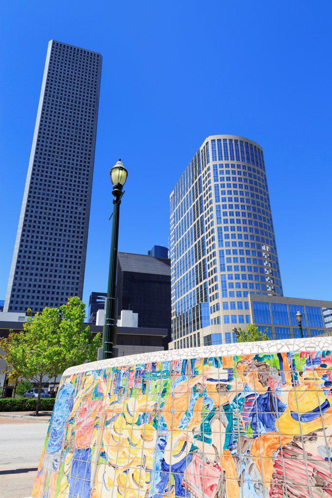 Stock Photo: 1486-16374 USA, Texas, Houston, Tilework in Market Square Park