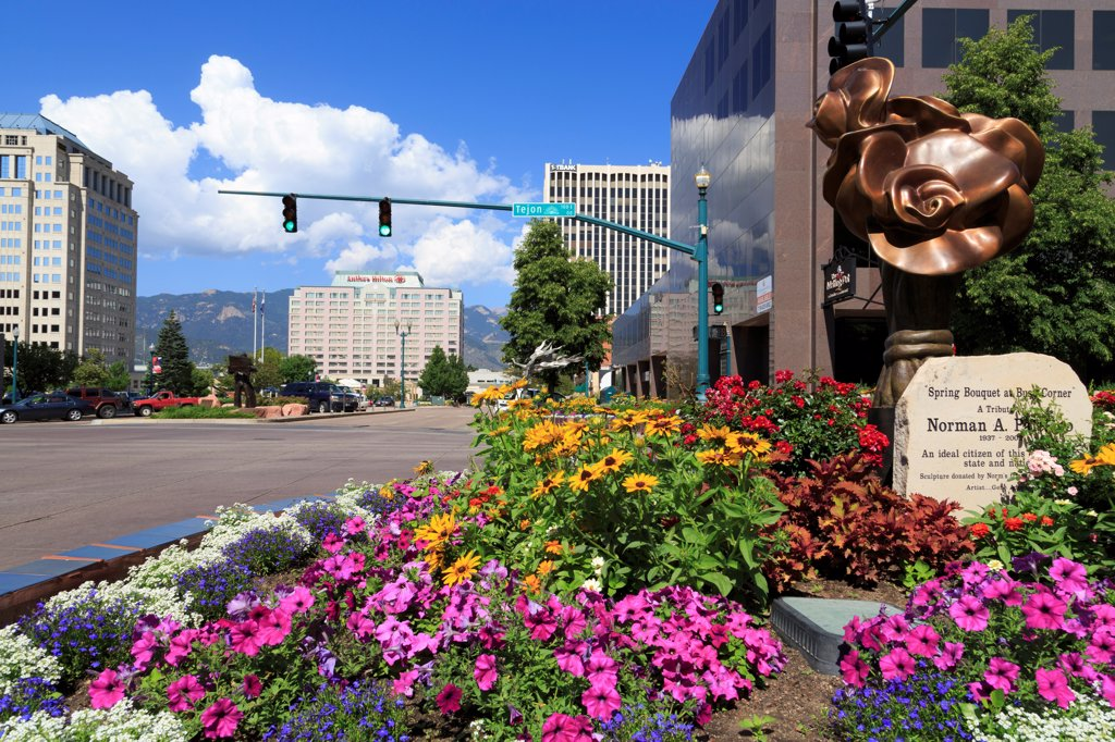 USA, Colorado, Colorado Springs, Tejon Street : Stock Photo