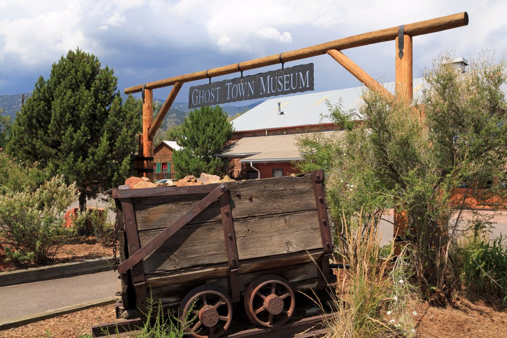 USA, Colorado, Colorado Springs, Ghost Town Museum : Stock Photo