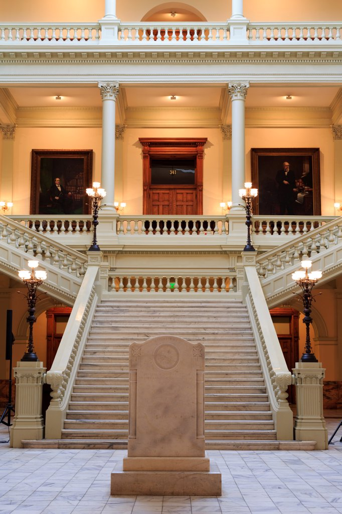 Stock Photo: 1486-16534 USA, Georgia, Atlanta, North Atrium in Georgia State Capitol