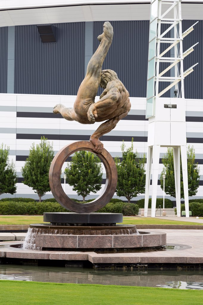 Stock Photo: 1486-16542 USA, Georgia, Atlanta, Flair Across America sculpture by Richard MacDonald, Georgia World Congress Center