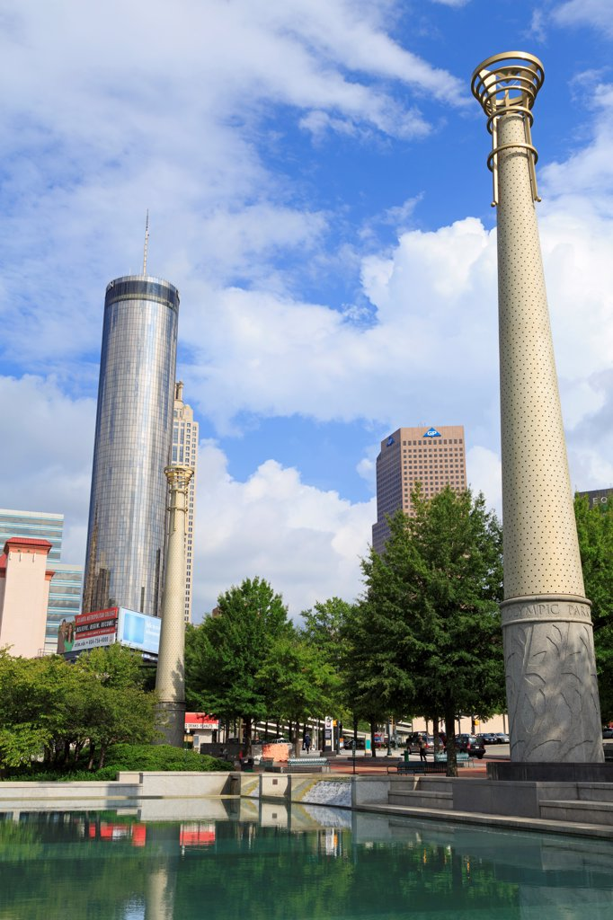 Stock Photo: 1486-16545 USA, Georgia, Atlanta, Centennial Olympic Park