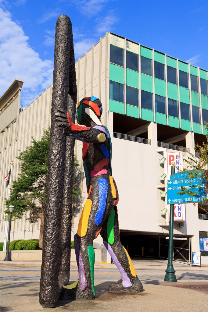Stock Photo: 1486-16548 USA, Georgia, Atlanta, Threshold sculpture by Robert Llimos on Peachtree Street