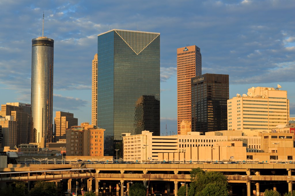 USA, Georgia, Atlanta, City skyline : Stock Photo