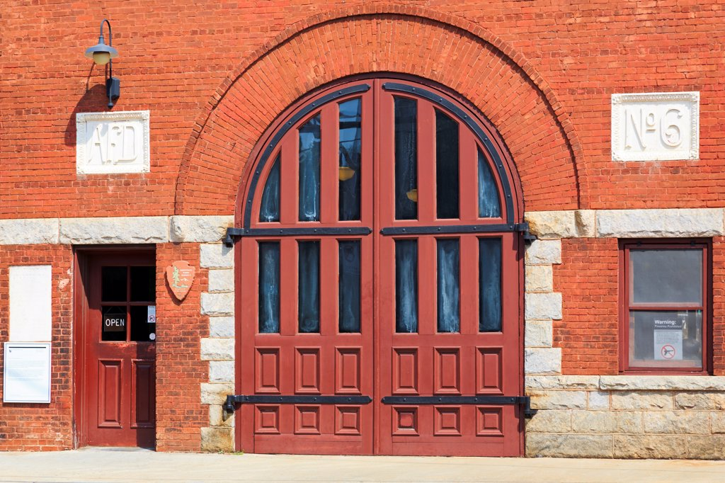 USA, Georgia, Atlanta, Historic Fire Station #6, Martin Luther King Jr. National Historic Site : Stock Photo