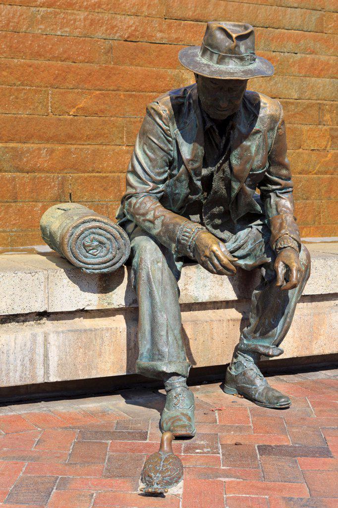 USA, Georgia, Atlanta, Sculpture in Underground Atlanta : Stock Photo