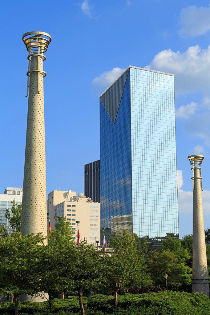 Stock Photo: 1486-16593 USA, Georgia, Atlanta, Centennial Olympic Park