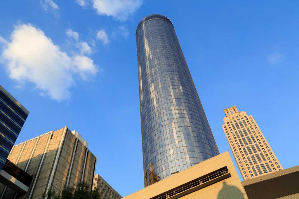 USA, Georgia, Atlanta, Westin Hotel tower : Stock Photo