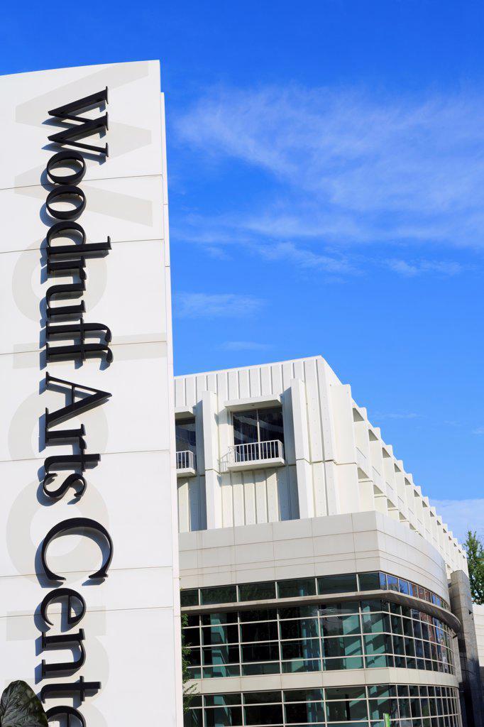 USA, Georgia, Atlanta, Exterior of Woodruff Arts Center : Stock Photo