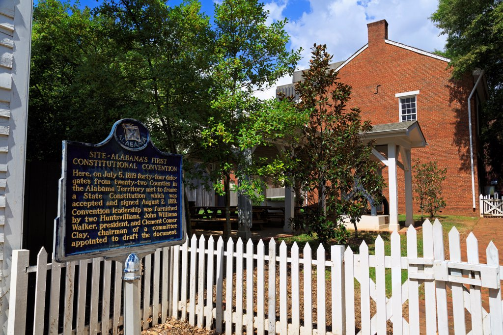 Stock Photo: 1486-16686 USA, Alabama, Huntsville, Alabama Constitutional Village