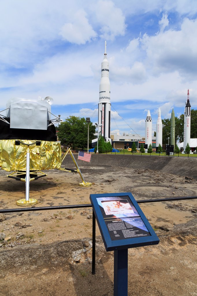 Stock Photo: 1486-16690 USA, Alabama, Huntsville, United States Space and Rocket Center