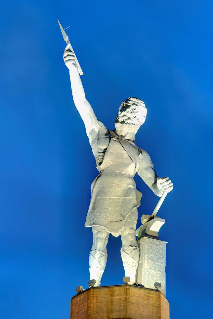 USA, Alabama, Birmingham, Vulcan statue : Stock Photo