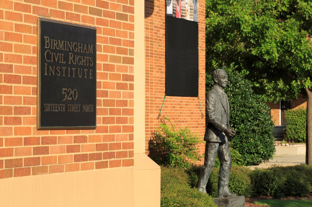 Stock Photo: 1486-16704 USA, Alabama, Birmingham, Exterior of Civil Rights Institute