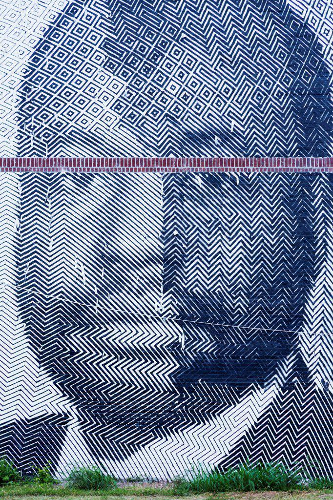 Stock Photo: 1486-16709 USA, Georgia, Atlanta, National Historic Site, Auburn Avenue, Mural of Martin Luther King Jr