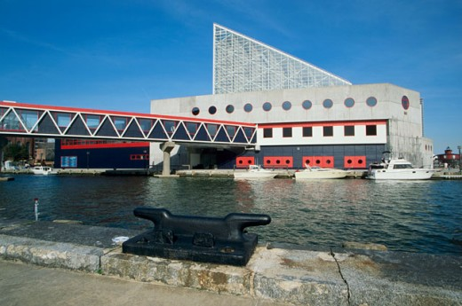Stock Photo: 1486-1677A Aquarium on the waterfront, National Aquarium, Baltimore, Maryland, USA