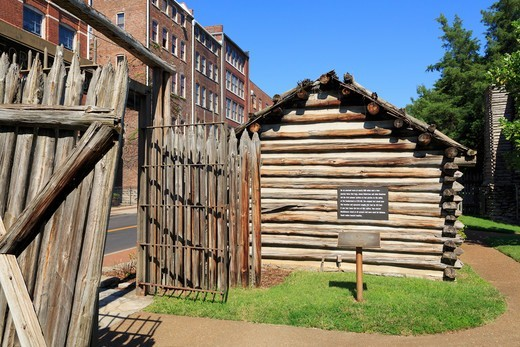 Fort Nashborough in Nashville, Tennessee, USA : Stock Photo