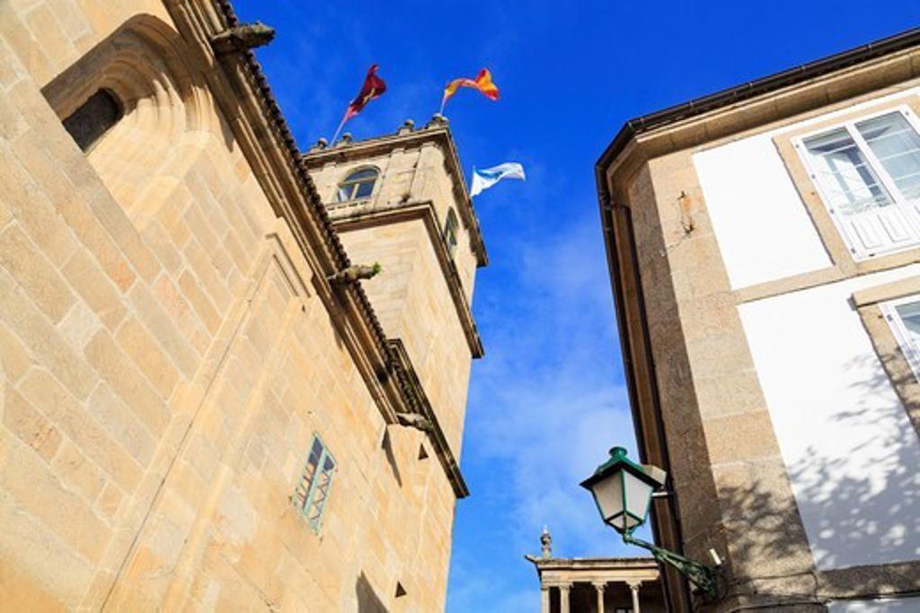 Fonseca Palace at the Praza de Fonseca, Santiago de Compostela, Galicia, Spain : Stock Photo