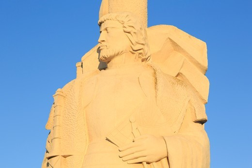 Stock Photo: 1486-17713 Juan Rodriguez Cabrillo Statue,Cabrillo National Monument,San Diego,California,USA,North America