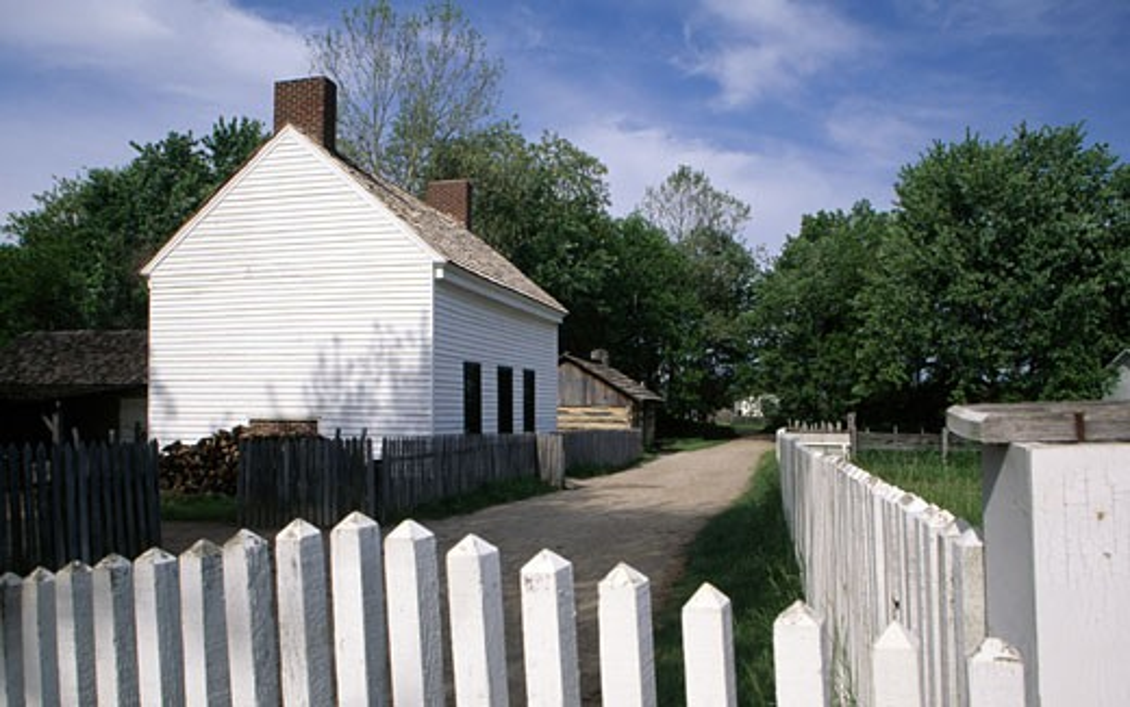 USA, Indiana, Indianapolis, Conner Prairie Village : Stock Photo