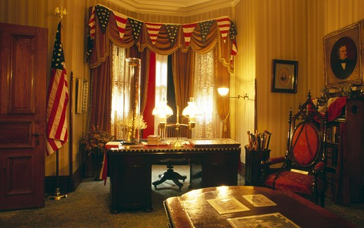 Stock Photo: 1486-1786 USA, Indiana, Indianapolis, President Benjamin Harrison House interior