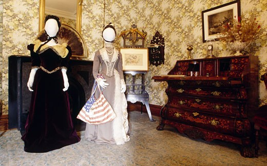 Stock Photo: 1486-1788 USA, Indiana, Indianapolis, President Benjamin Harrison House interior