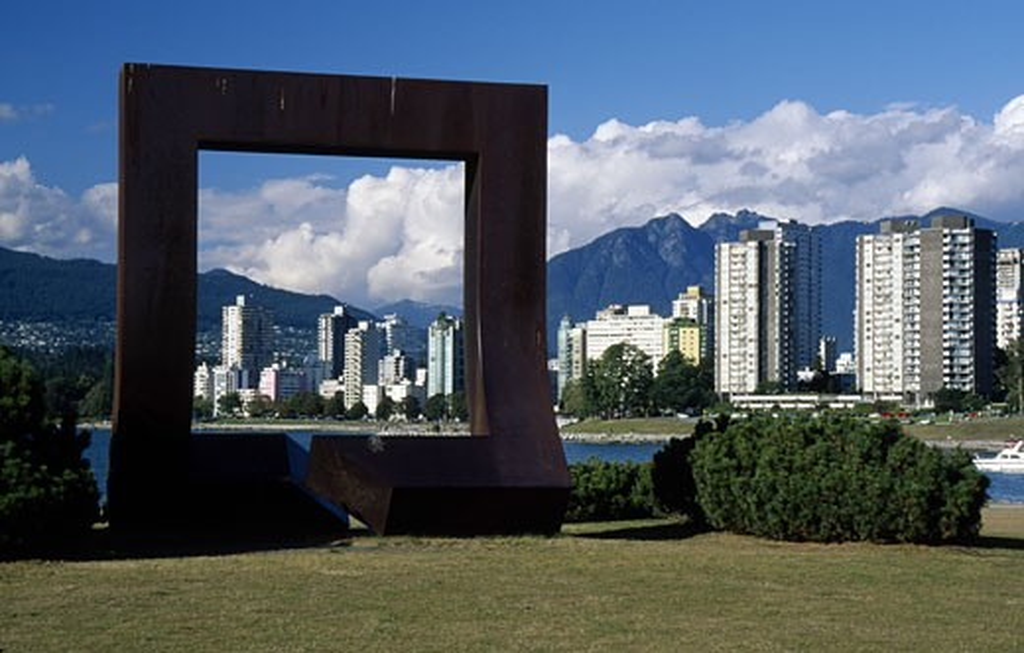 Canada, British Columbia, Vancouver, Vanier Park, modern sculpture : Stock Photo