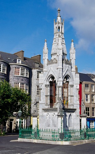 Stock Photo: 1486-2235 Tower in front of a building, National Monument Grand Parade, Cork, County Cork, Ireland