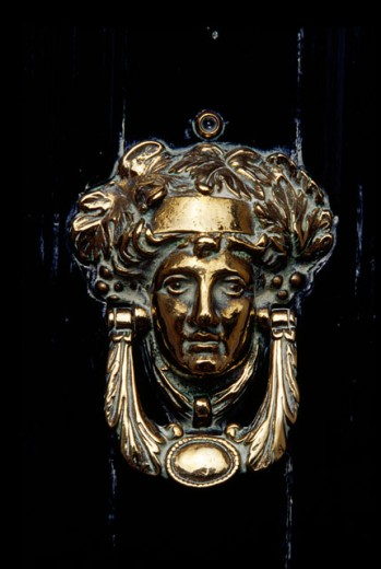 Stock Photo: 1486-2403 Close-up of a doorknocker, Hillsborough, Northern Ireland