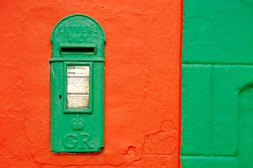 Close-up of a mailbox on a wall, Lemybrien, County Waterford, Ireland : Stock Photo