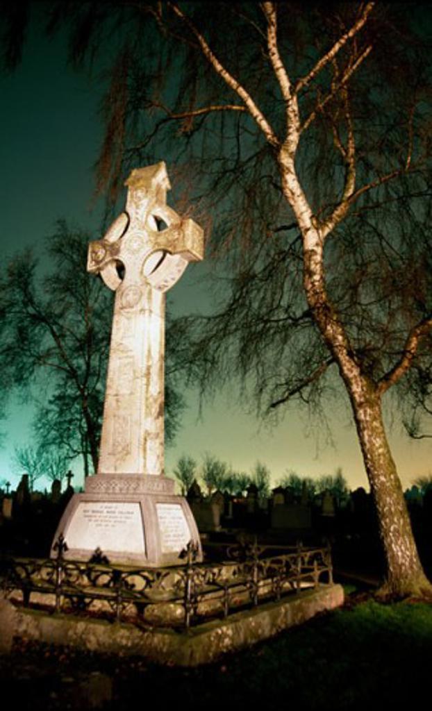 Stock Photo: 1486-2856 Tombstone in a cemetery, St. Finbarr's Cemetery, Cork, County Cork, Ireland