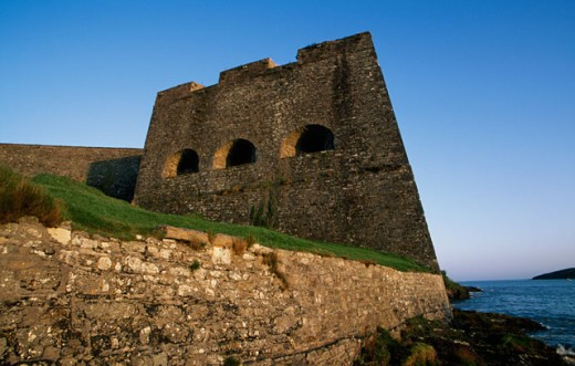 Low angle view of a fort, Charles Fort, Kinsale, Ireland : Stock Photo