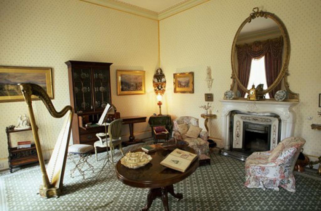 Stock Photo: 1486-3015 Interior of a house, Muckross House, Killarney National Park, Killarney, County Kerry, Ireland