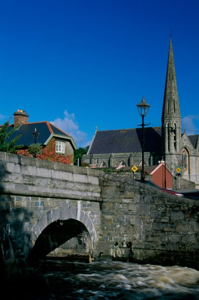 Bridge over a river, Westport, Ireland : Stock Photo