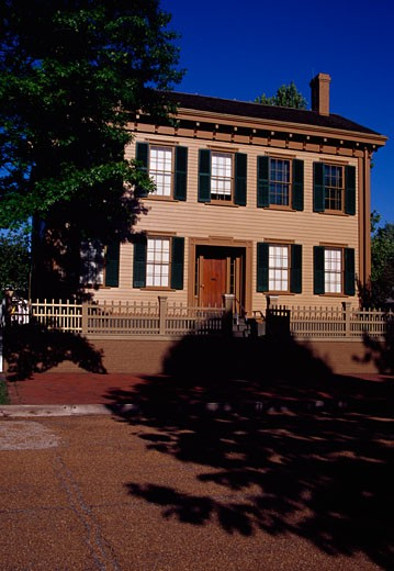 Stock Photo: 1486-351 Facade of a house, Lincoln Home National Historic Site, Springfield, Illinois, USA