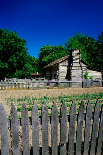 Lincoln's New Salem State Historic Site, Illinois, USA : Stock Photo