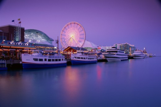 Navy Pier, Chicago, Illinois, USA : Stock Photo
