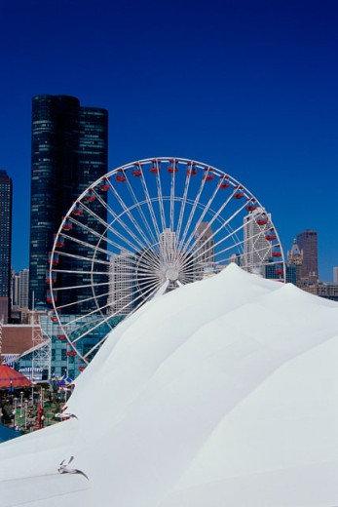 Stock Photo: 1486-3572B Navy Pier Chicago Illinois USA